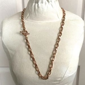 Vintage . 70s copper colored Monet chain necklace
